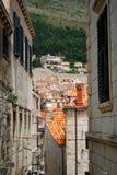 Hintergassen von Dubrovnik lizenzfreies stockbild