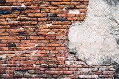 Hintergründe der alten Weinlesebacksteinmauer Lizenzfreie Stockfotografie