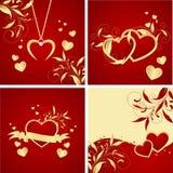 Hintergründe des Valentinsgrußes lizenzfreie abbildung