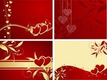 Hintergründe des Valentinsgrußes Lizenzfreies Stockfoto