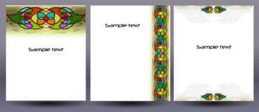 Hintergründe für Broschüren- und Fliegerdesign Lizenzfreies Stockfoto