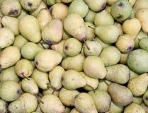Hintergründe von reifen saftigen gelben Birnen Lizenzfreies Stockfoto