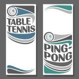 Hintergründe für Text bezüglich des Tischtennis Lizenzfreie Stockbilder