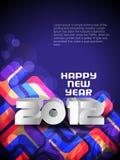 Hintergrund 2012 des glücklichen neuen Jahres Stockbild