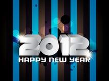 Hintergrund 2012 des glücklichen neuen Jahres Lizenzfreie Stockbilder