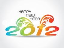 Hintergrund 2012 des glücklichen neuen Jahres Lizenzfreies Stockfoto