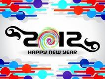 Hintergrund 2012 des glücklichen neuen Jahres Stockbilder