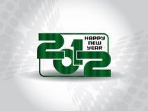 Hintergrund 2012 des glücklichen neuen Jahres Stockfotografie
