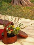Hintergrund-Abbildung von Ikebana Stockfoto