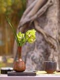 Hintergrund-Abbildung von Ikebana Stockbilder