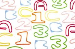 Hintergrund ABC-123 Stockfotos