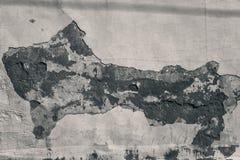 Hintergrund, alte Betonmauer der Beschaffenheit mit der Splitterung der Farbe raue Oberfläche mit Sprüngen Lizenzfreies Stockbild
