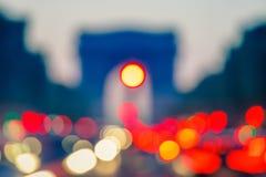 Hintergrund: Arc de Triomphe, Paris stockfotos