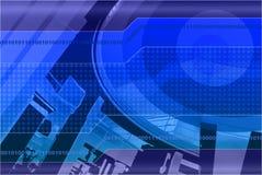 Hintergrund-Auslegung im Blau Lizenzfreies Stockfoto
