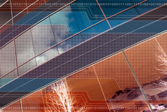 Hintergrund-Auslegung-Kupfer und Blau Lizenzfreie Stockfotografie