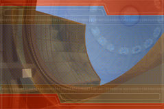 Hintergrund-Auslegung in Orange und in Blauem Lizenzfreies Stockbild