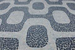 Hintergrund-Bürgersteig Ipanema Rio de Janeiro Stockbild