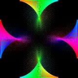 Hintergrund, Beschaffenheit, Abstraktion Farbiger Punktrahmen wird auf schwarzem Hintergrund isoliert n vektor abbildung