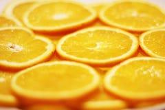 Hintergrund-Beschaffenheit mit orange Scheibe Lizenzfreie Stockfotos