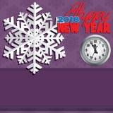 Hintergrund bestanden aus Winterschneeflocken Stockfoto