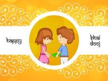Hintergrund Bhai Dooj Lizenzfreies Stockbild
