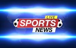 Hintergrund-Bildschirm-Retter auf Fußball Sportnachrichten Sportnachrichten Live auf Weltkarte-Hintergrund Auch im corel abgehobe lizenzfreie abbildung