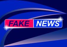 Hintergrund-Bildschirm-Retter auf gefälschten Nachrichten Gefälschte Nachrichten auf blauem abstraktem Hintergrund vektor abbildung