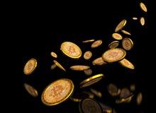 Hintergrund Bitcoin 3d Stockbild