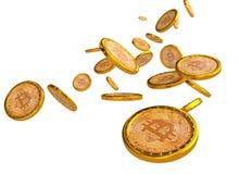 Hintergrund Bitcoin 3d Stockfotos