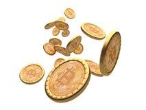 Hintergrund Bitcoin 3d Stockbilder
