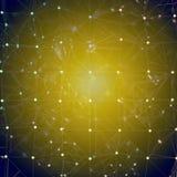 Hintergrund - blaues gelbes Mosaik oder Netz Stockbild