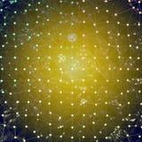 Hintergrund - blaues gelbes Mosaik oder Netz Stockbilder
