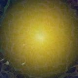 Hintergrund - blaues gelbes Mosaik oder Netz Lizenzfreie Stockfotografie