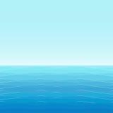 Hintergrund: blaues Meer mit kleinen Wellen Stockbild