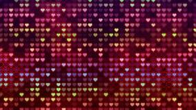 Hintergrund, blinkende Wand von Herzen Lizenzfreie Stockfotos