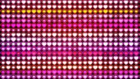 Hintergrund, blinkende Wand von Herzen Stockfotografie