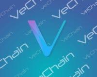 Hintergrund blockchain Art VeChain-Sammlung Stockbild