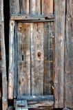 Hintergrund-Blockhaus-Tür Stockfotos