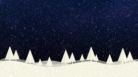 Hintergrund bokeh Blau der Schnee- und Weihnachtsbäume HD 1080 vektor abbildung
