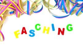 Hintergrund, bunte Ausläufer und Buchstaben Stockbild