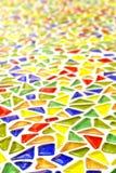 Hintergrund, bunter, Mehrfarben-, Glasziegelstein. Stockbilder