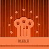 Hintergrund-Chefhut-Zeichenmenü, das Symbol orange Vektor ENV 1 kocht Lizenzfreie Stockfotografie