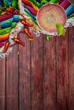 Hintergrund: Cinco De Mayo Celebration With Margarita Lizenzfreie Stockfotos