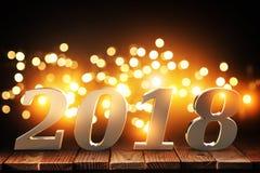Hintergrund 2018 3d Lizenzfreie Stockfotografie