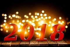 Hintergrund 2018 3d Stockfotos