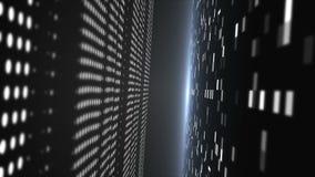 Hintergrund 3d mit abstraktem techonology Tunnel im Raum, 3d übertragen Illustration für Geschäft oder Technologie stock video footage