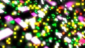 Hintergrund 3d mit abstrakter Oberfläche mit Quadraten im Raum, 3d übertragen Illustration für Geschäft oder Technologie vektor abbildung