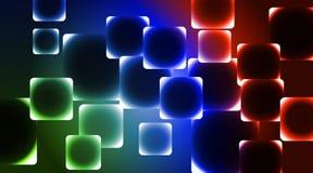 Hintergrund das unterschiedliche durch Quadrate Stockfotos