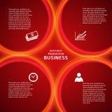 Hintergrund-Deckblatt der Bankwesenschablone rotes Lizenzfreie Stockfotos