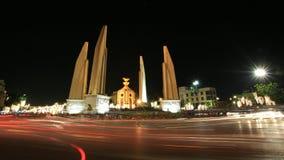 Hintergrund: Demokratiedenkmal mit Fühlerleuchte Lizenzfreie Stockbilder
